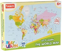 Funskool World Map Puzzles Educational Game(105 Pieces)