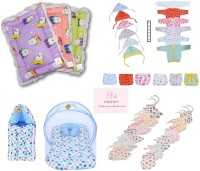 Fareto Just Born Daily Essential Clothing Combo Set All In One(0-3Months)(Total Items: 35)(Multicolor)