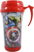 Crafts For You SKI Marvel Avengers Insulated Plastic Coffee, Juice Milk & Water Travel Mug 250 ml Sipper(Pack of 1, Red, Plastic)