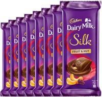 Cadbury Dairy Milk Silk Fruits and Nut Chocolate Bar, 55 g (Pack of 8) Bars(8 x 55 g)