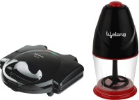 Lifelong LLCMB40 250 W Electric Chopper with 750 W Grill Sandwich Maker(Black, Red)