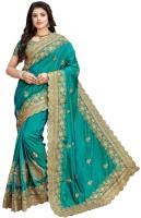 Vaidehi Fashion Embroidered Bollywood Pure Silk Saree(Green)