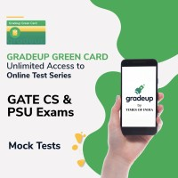 Gradeup Green Card for  GATE CS & PSU Exams Test Preparation(Voucher)