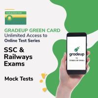 Gradeup Green Card for  SSC & Railway Exams Test Preparation(Voucher)