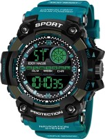 EDDY HAGER EH-807 Black & Blue Digital Sports Analog-Digital Watch  - For Men