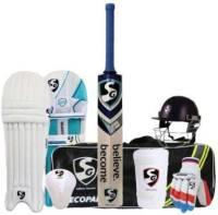 SG Economy Cricket Set Size- 6 With Helmet Cricket Kit