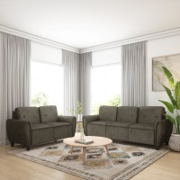 Flipkart Perfect Homes Bibury Fabric 3 + 2 Coffee Sofa Set