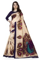VIMALNATH SYNTHETICS Printed Fashion Art Silk Saree(Cream)