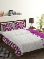 Bombay Dyeing 104 TC Cotton Double Abstract Bedsheet(Pack of 1, Red)