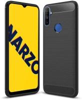 Flipkart SmartBuy Back Cover for Realme Narzo 10A(Black, Flexible)