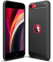 Flipkart Smartbuy Back Cover for Apple iPhone SE 2020(Black, Flexible)