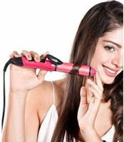 T TOPLINE 2 in 1 Hair Styler Hair Curler & Straightener 2 in 1 hair Curl and straighter Hair Styler(Pink)