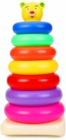 U Decide Plastic Teddy Stacking Ring Jumbo Stack up Educational Toy Multicolour Rings Tower Construction Toys Set(Multicolor)