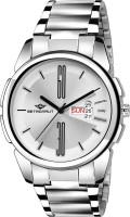 METRONAUT MT-GR909-WTC Elegant Silver Dial Round Shape Day & Date Functioning Stainless Steel Bracelet Premium Watch for Men/Boys Analog Watch  - For Men