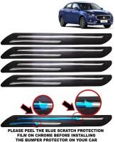 FABTEC Microfibre Car Bumper Guard(Black, Pack of 4, Maruti, Swift Dzire)
