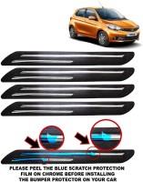 FABTEC Microfibre Car Bumper Guard(Black, Pack of 4, Tata, Tiago)