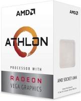 amd Athlon 3000G with Radeon Vega 3 3.5 GHz AM4 Socket 2 Cores 4 Threads 1 MB L2 4 MB L3 Desktop Processor(Silver)