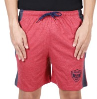 COLD FUSION Solid Men Red Gym Shorts, Night Shorts, Basic Shorts, Sports Shorts, Bermuda Shorts
