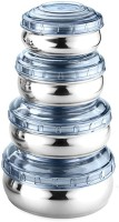 WIBSIL CONBL04  - 1660 ml Steel Grocery Container, Fridge Container, Utility Box, Spice Container(Pack of 4, Blue)