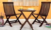 BrookWood Sheesham Folding Solid Wood 2 Seater Dining Set(Finish Color - Honey Finish)