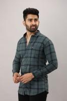 Surhi Men Checkered Casual Grey Shirt
