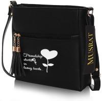 MUSRAT Black Sling Bag