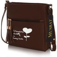 MUSRAT Brown Sling Bag