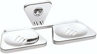 USF Dimple Soap Dish/Case/Holder for Kitchen/Bathroom, Standard Size, Chrome Finish(Silver)