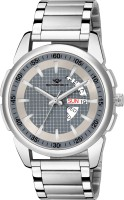 METRONAUT MT-GR910-GYC Elegant Grey Dial Round Shape Day & Date Functioning Stainless Steel Bracelet Premium Watch for Men/Boys Analog Watch  - For Men