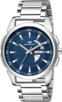 METRONAUT MT-GR910-BLC Elegant Blue Dial Round Shape Day & Date Functioning Stainless Steel Bracelet Premium Watch for Men/Boys Analog Watch  - For Men