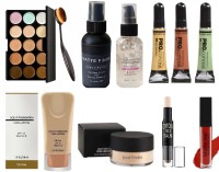 Sheny Fixing Spray For Makeup 01 Matte Finish, Clear, 60 ml , Beauty 15 Colors Contour Face Cream Makeup Concealer Palette + Oval Make up Brush , Skin Illuminating Oil-Free and Pore Filler Gel Primer , Pro Conceal HD Concealer (Orange, Yellow, Green, 8 g Each) , Liquid Foundation with SPF 15, 30ml ,