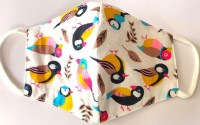 JMS Sparrow bird pattern Cloth Face Mask Washable Reusable Set of 2 Fold-flat Dust Masks | Anti Virus/Anti Pollution/Anti Dust Outdoor Protection | Soft Earloop/Mouth Nose Cover Men Women Kids Unisex | 100% Cotton Breathable | Sparrow bird pattern Cloth Face Mask Cloth Mask(Multicolor, Free Size, Pa