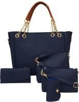 M5 Fashion Women Blue Shoulder Bag(Pack of: 5)