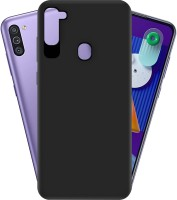 Hupshy Back Cover for Samsung Galaxy M11(Black, Silicon)