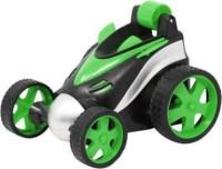 Kiyara Collection RC Stunt Vehicle 360°Rotating Rolling Radio Control Electric Race Car, Remote Control Car (Green)
