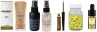 Sheny Liquid Foundation with SPF 15, 30ml , Fixing Spray For Makeup 01 Matte Finish, Clear, 60 ml , Skin Illuminating Oil-Free and Pore Filler Gel Primer , PERFECT GLAM COLORFUL LIQUID SMUDGE PROOF SHIMMER EYELINER , Anti-aging Aloe Vera And Vitamin E Anti Wrinkle Serum Spot Acne Removing Whitening