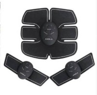 BIRDLINE Beauty Body Mobile Gym 6 Pack EMS Tummy Flatter for Men/Women Massager Mobile-Gym Flatter, Weight loss Muscle Toning/Fitness Technology Kit Abs, Wireless Electro Pad Portable Trainer (Black) home gym massager slimming tummy trimmer simple workout Rechargeable Workout Training and Home Offic