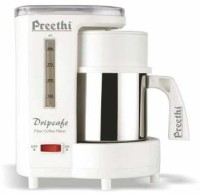 Preethi Dripcafe Coffee Maker (White) 8 Cups Coffee Maker(White, Silver)