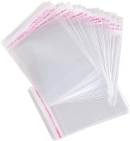trendy-spark Packing Bag Pack of 100 - 4 x 6 Long inches Food Safe Adhesive Self-Sealing Resealable Clear Plastic Flat Cello Wrap Cellophane Favor Candy Cookie Treat Jewelry Retail Gift Bags 100pcs Packing_TBag46(Transparent)