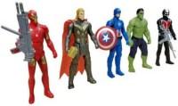 Tenderfeet Super Hero Team Set of Five Action Figures(Multicolor)