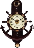 Smile2u Retailers Analog 45 cm X 30 cm Wall Clock(Maroon, With Glass)