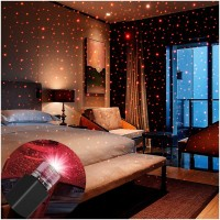 Lehza USB Night Light, Star Projector Night Light, Interior Car Lights, Bending Freely Portable Night Light Atmospheres Decoration for Car, Ceiling,... Car Fancy Lights(Black)