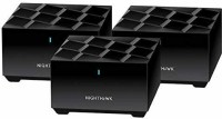 NETGEAR Nighthawk Whole Home Mesh WiFi 6 System, 3-Pack 100 Mbps Router(Black, Single Band)