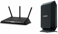 NETGEAR Nighthawk Smart WiFi Router (R6700) - AC1750 Wireless Speed (up to 1750 Mbps) | Up to 1500 sq ft Coverage & Cable Modem CM700 Compatible with All Cable Providers Including Xfinity by Comcast 100 Mbps Router(Black, Single Band)