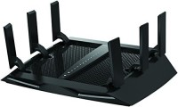 NETGEAR Nighthawk X6 AC3000 Dual Band Smart WiFi Router, Gigabit Ethernet, Compatible with Amazon Echo/Alexa (R7900) 100 Mbps Router(Black, Single Band)