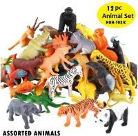 BVM GROUP 12 Pcs Wild Animals Figures Set For Kids(Multicolor)