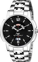 METRONAUT MT-GR902-BKC Elegant Black Dial Day & Date Functioning Stainless Steel Bracelet Watch for Men/Boys Analog Watch  - For Men