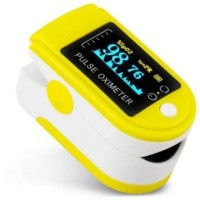 SYARA EWM_723V_Pulse Oximeter Finger Oximetry SPO2 Blood Oxygen Saturation Monitor Heart Rate Monitor Rotatable OLED Digital Display Portable with Batteries and Lanyard Pulse Oximeter Pulse Oximeter(Yellow)