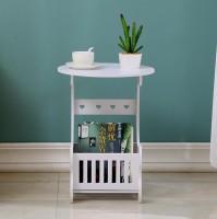 Furn Master Plastic Coffee Table(Finish Color - White)