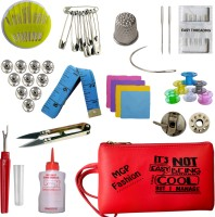 MGP Fashion Sewing Materials Combo with Home Office Shop And Outdoor Travel Purpose With Carrying Pouch Multiple Accesories Needle , Measuring Tape Sewing Kit Sewing Kit